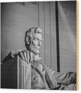 Abraham Lincoln Memorial In Washington Dc Usa Wood Print