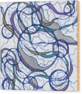 Abstract Pencil Pattern Wood Print