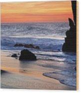 Adraga Beach In Sintra Natural Park Wood Print