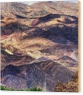 aerial view of Leh ladakh landscape Jammu and Kashmir India Wood Print