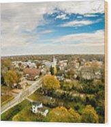 Aerial View Over White Rose City York Soth Carolina Wood Print