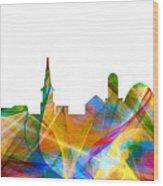 Alexandria Virginia Skyline Wood Print