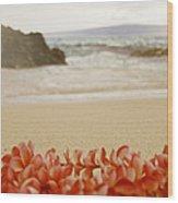 Aloha Lei Maui Hawaii Wood Print