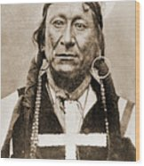 American Indian Chief Wood Print