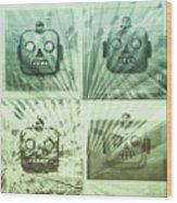 4 Angry Robots Wood Print