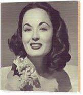 Ann Blyth, Vintage Actress Wood Print