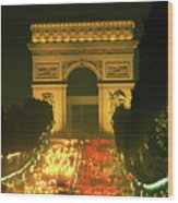 Arc De Triomphe In Paris 2 Wood Print