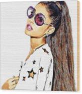 Ariana Grande Wood Print