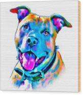 Art Dogportrait Wood Print
