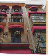 Artistic Architecture In Palma Majorca, Spain Wood Print
