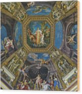 Artistic Ceilings Within The Vatican Museums In The Vatican City Wood Print