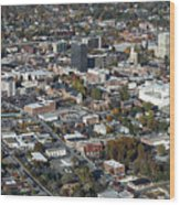 Asheville Aerial Photo Wood Print