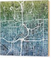Atlanta Georgia City Map Wood Print