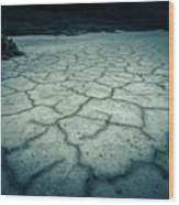 Badwater Basin Death Valley Salt Formations Wood Print