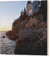 Bass Harbor Head Lighthouse Acadia National Park Wood Print