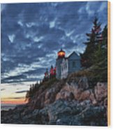 Bass Harbor Lighthouse Wood Print by John Greim