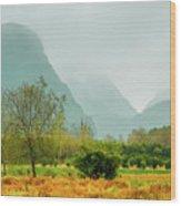 Beautiful Countryside Scenery In Autumn Wood Print