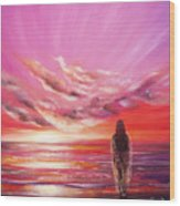 Beyond The Sunset  Wood Print