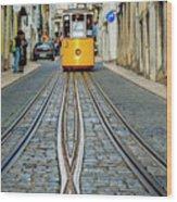 Bica Funicular, Lisbon, Portugal Wood Print