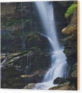Big Bradley Falls North Carolina Wood Print