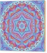 Birth Mandala- Blessing Symbols Wood Print
