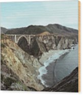 Bixby Creek Bridge Big Sur Photo By Pat Hathaway Wood Print
