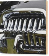 Black Corvette Wood Print