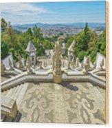 Bom Jesus Staircase Braga Wood Print