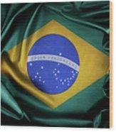 Brazil Flag Wood Print
