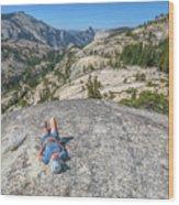 Break After Yosemite Hiking Wood Print