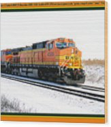 Burlington Northern Santa Fe Bnsf - Railimages@aol.com Wood Print