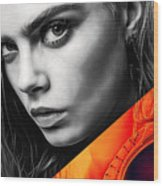 Cara Delevingne Collection Wood Print