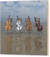4 Cellos... - 4 Violoncelles... Wood Print