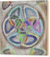 Celtic Layers Wood Print
