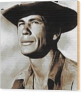Charles Bronson, Actor Wood Print
