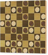 Checkerboard Generated Seamless Texture Wood Print