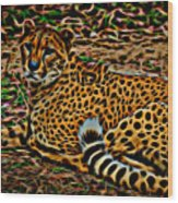 Cheeta Wood Print