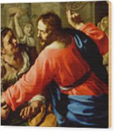 Christ Cleansing The Temple Wood Print