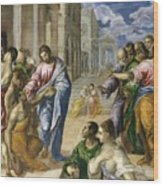 Christ Healing The Blind Wood Print