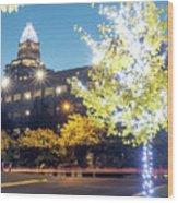 Christmas Season Decorations Around Charlotte North Carolina And Wood Print