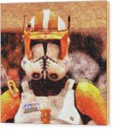 Clone Trooper Commander - Wax Style Wood Print