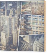 Collage Of Chicago  Wood Print