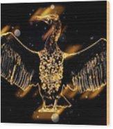 Cormorant Dries Its Wings Wood Print