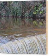 Cramond Waterfall Wood Print