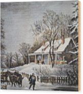 Currier & Ives: Winter Scene Wood Print