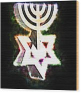 David's Menorah Jerusalem Wood Print
