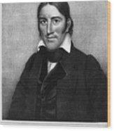 Davy Crockett (1786-1836) Wood Print by Granger