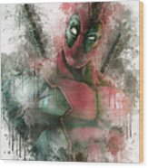 Deadpool Wood Print