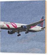 Delta Airlines Boeing 767 Art Wood Print