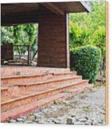 Derelict Building Wood Print